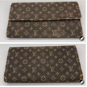 Authentic Louis Vuitton mini lin Sarah long wallet